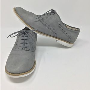 GREY BP LACE UP SHOES